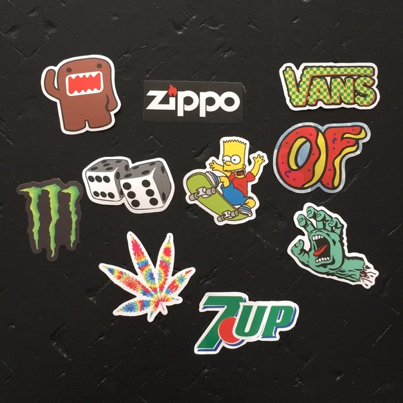stickers skateboard vans